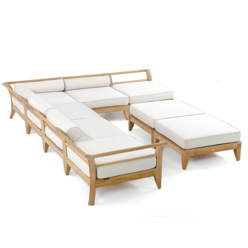 teak outdoor deep seating