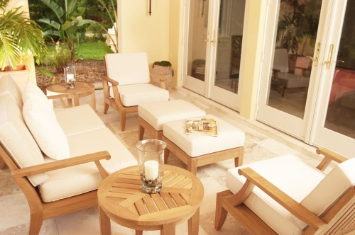 teak outdoor sofa lounge set