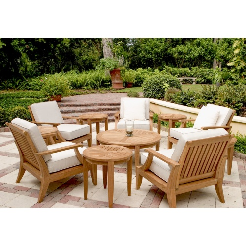 teak deep seating patio furniture sets