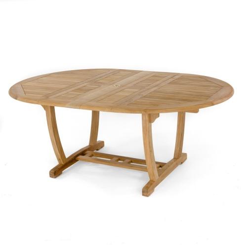 versatile teak extending table