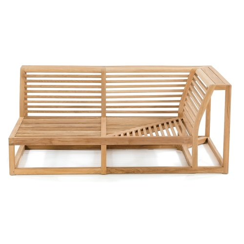 deep seating teak slatted frame