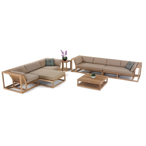 maya teak wooden luxury sofa set