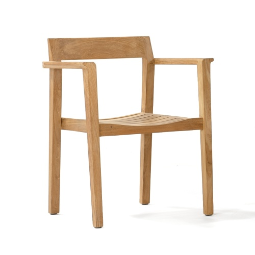 stacking teak armchair