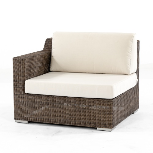 wicker and deep seating cushions sectional