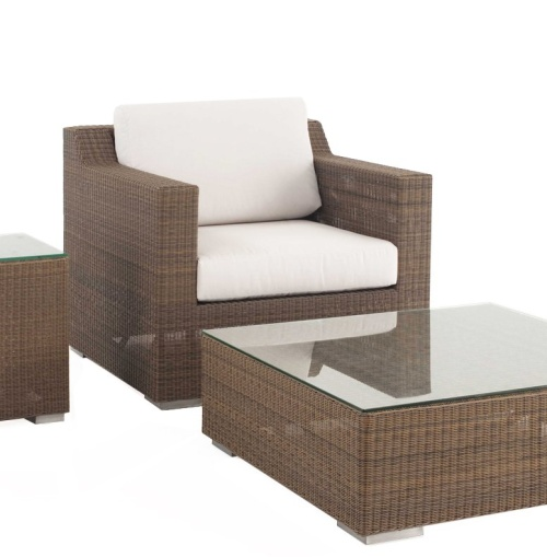 wicker and aluminum frame 3 pc set