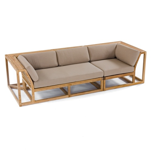 teak wood patio sofa