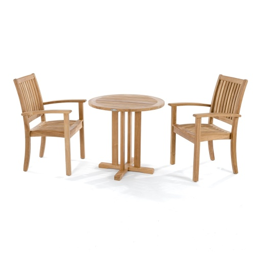 furniture indoor bistro table teak wood set