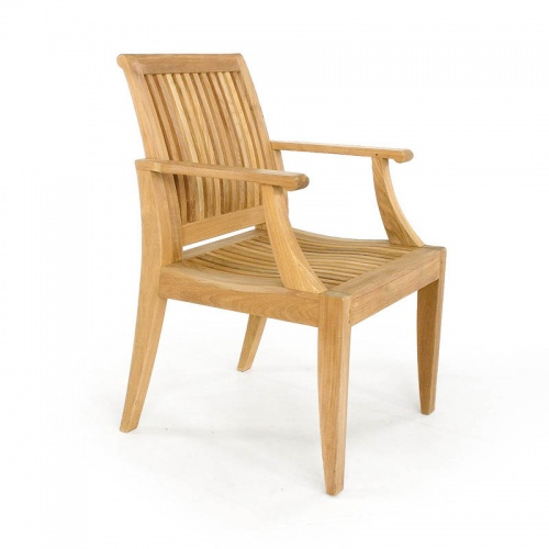 teak deep seating high back armchair
