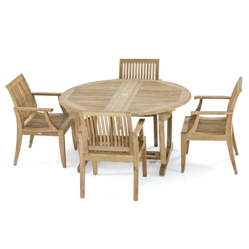 teakoval patio dining set