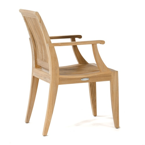 laguna teak dining armchair outdoor