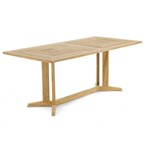 pyramid teak rectangular dining table