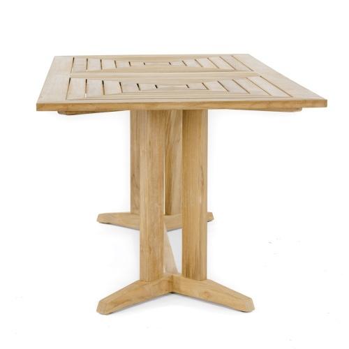 rectangular teakwood pyramid table