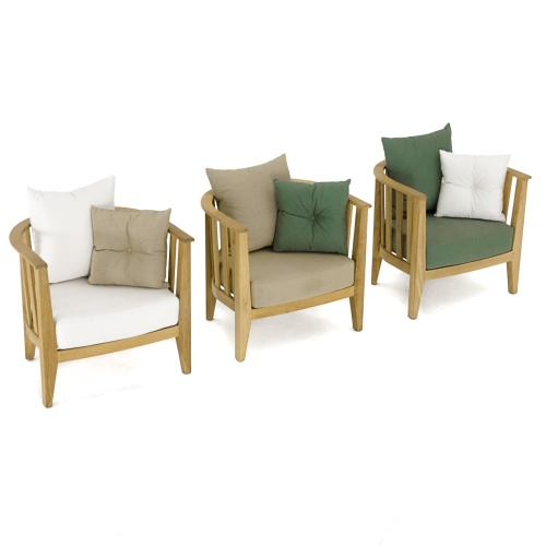 teak outdoor club chairs