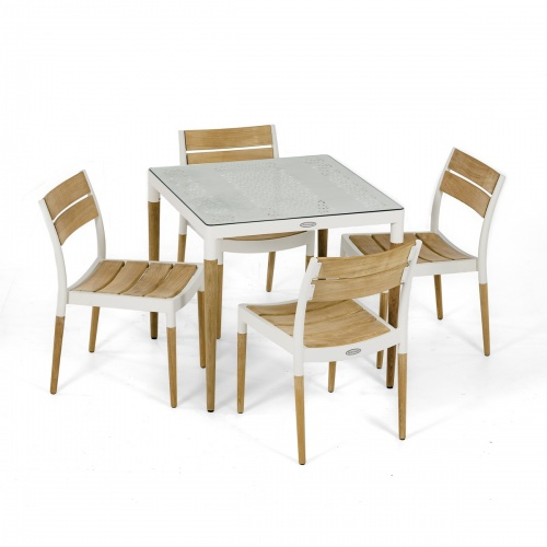 contemporary outside dining set for 4