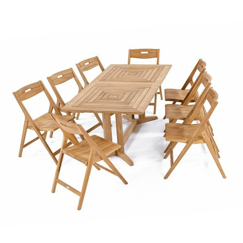 teak folding chir dining set