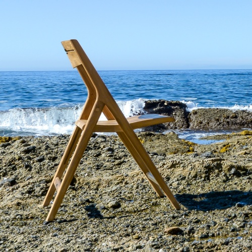 teak wood ocean side chairs outdoor