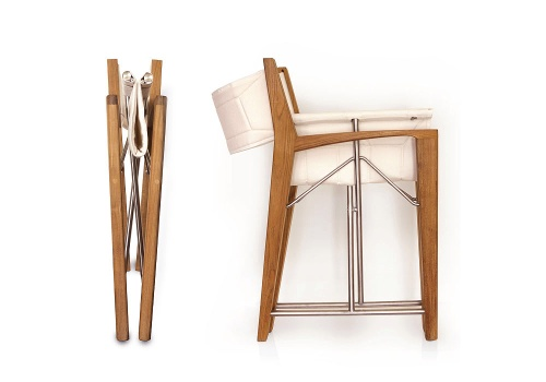 comfotable folding director chair teak