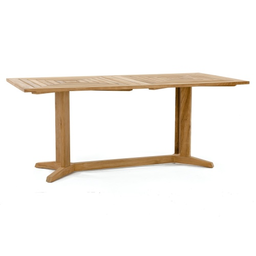 rectangular teak and tables