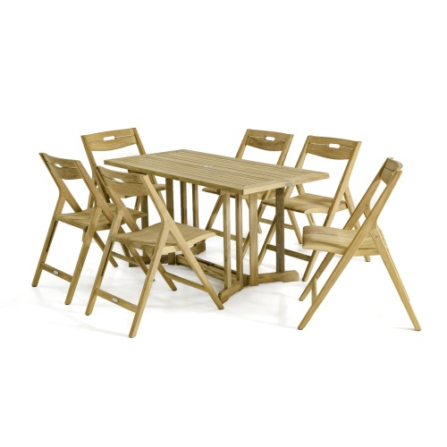 folding picnic table and chair 7 piece set