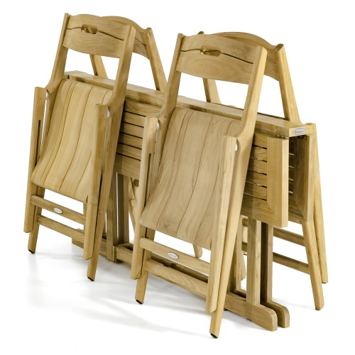teak folding deck chairs and table