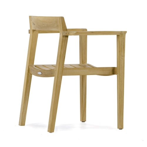 stackable teakwood chair with arms