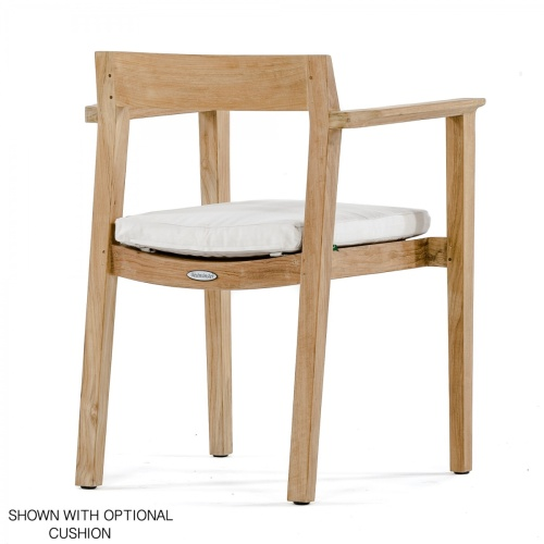 contoured dining chair with cushion