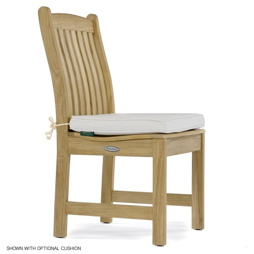 casual dining side chair teak