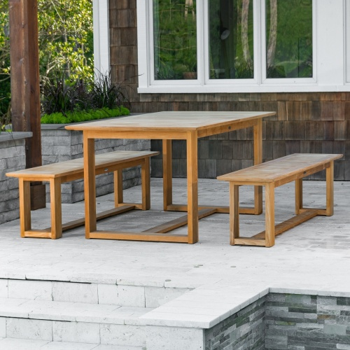 teak picnic table sets outdoor