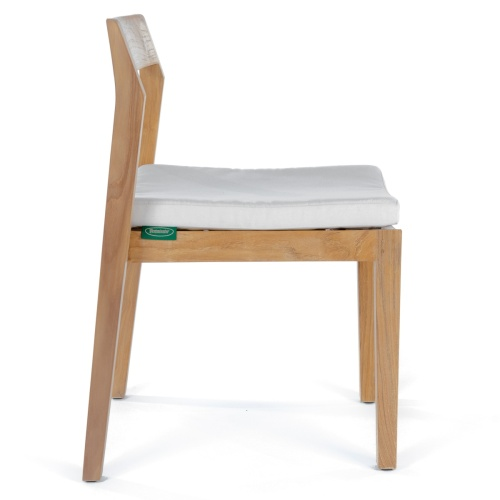 wooden outdoor chair with cushions
