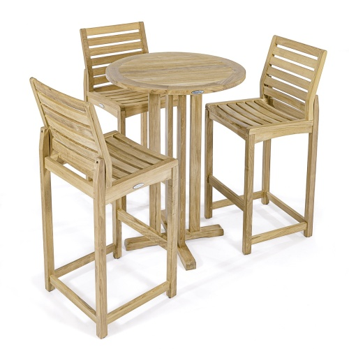 4 piece bar set teak