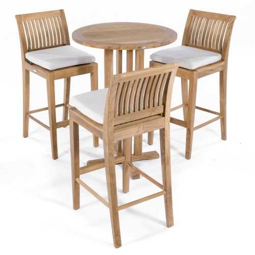 4pc premium all weather teak bar set
