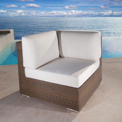 conversational wicker patio sectional