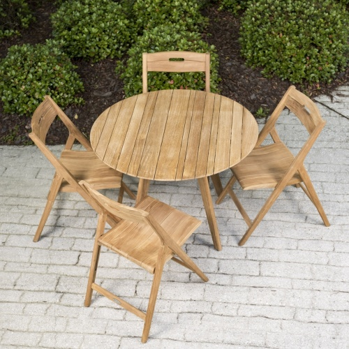 outdoor folding round table sets