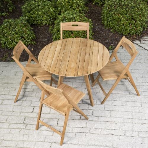 teak outdoor furniture round table set