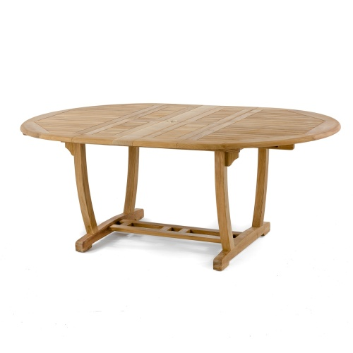 oval extendable teak dining table