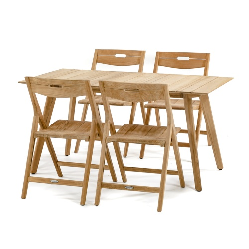 westminster teak surf folding patio set