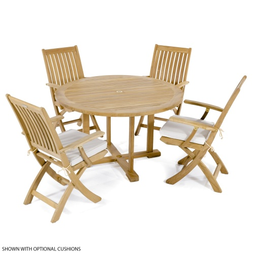 Round deck patio set for 4