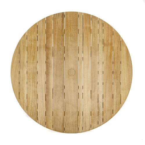 teak beach table round