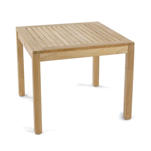 square teak indoor dining table