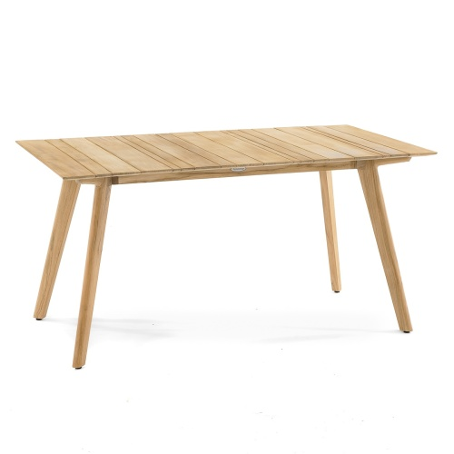 rectangular teak wooden table