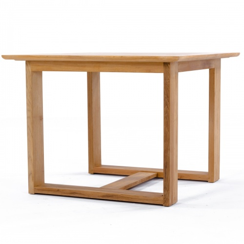 luxury teak dining table square