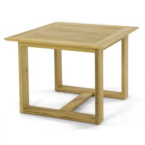 square teakwood bistro table outdoor
