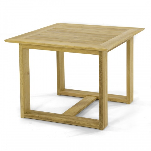 teak square 4 person dining table