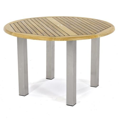 heavy duty teak outdoor table
