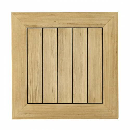 marine sealed teakwod square table top