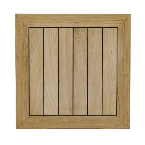 rectangular dinette sets teak and stainless steel