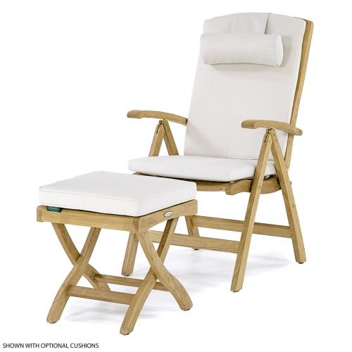 Excellent Barbuda Teak Recliner Chair Ottoman Set Westminster Teak Onthecornerstone Fun Painted Chair Ideas Images Onthecornerstoneorg
