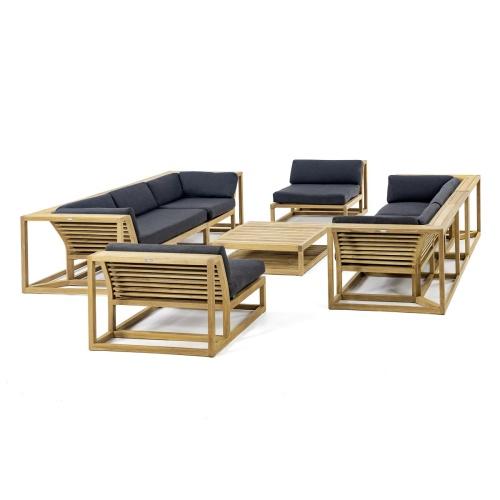 patio furniture teak sofa
