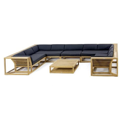 grade a teak wood luxurious sectional
