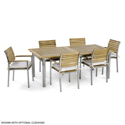 outdoor teak 7 piece dining sets